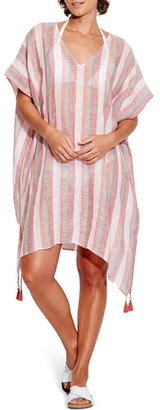 Seafolly Vertical Stripe Caftan Cover-Up Dress
