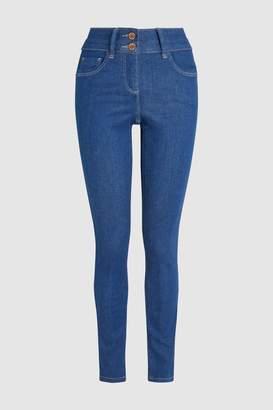 Next Womens True Blue Lift, Slim And Shape Skinny Jeans - Blue