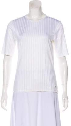 Paco Rabanne Short Sleeve Rib Knit Top