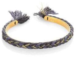 Aurelie Bidermann Copacabana Single Braided Cuff Bracelet