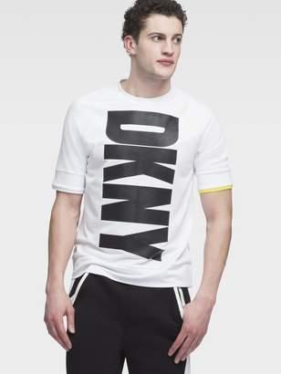 DKNY Vertical Logo Short Sleeve Crew