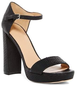 Pour La Victoire Yvette Snake Embossed Platform Sandal
