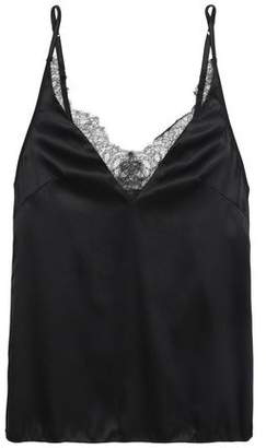 Love Stories Woman Lace-trimmed Silk-blend Satin Chemise Black Size L Love Stories