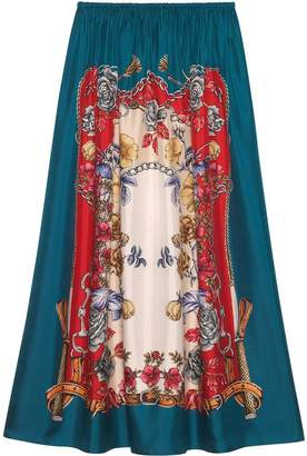 Gucci Silk skirt with Boudoir print