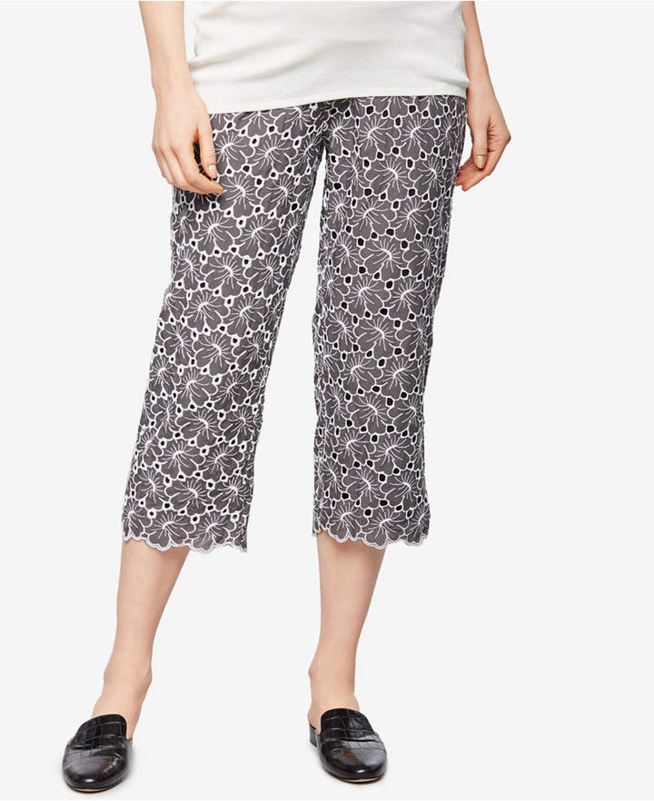 A Pea In The Pod A Pea In The Pod Maternity Lace Cropped Pants