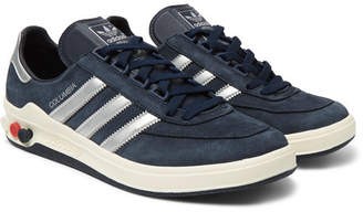 adidas Columbia SPZL Nubuck and Leather Sneakers - Men - Navy