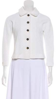 Diane von Furstenberg Textured Button-Up Jacket