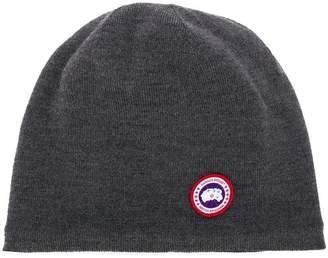 Canada Goose logo beanie hat