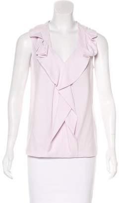 Diane von Furstenberg Ruffle-trimmed Sleeveless Top w/ Tags