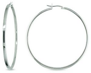 Sterling Silver Large Hoop Earrings