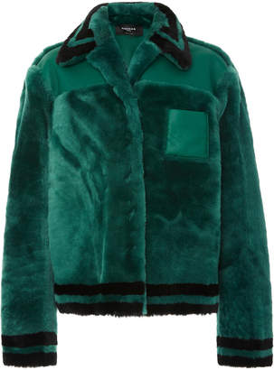 Rochas Striped Shearling Jacket