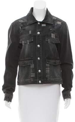 Versus Embellished Denim Jacket