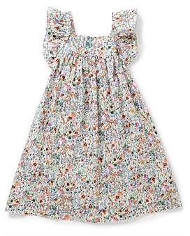 Bonton Girl Printed Dress With Ailette (4-6 Years)