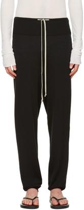 Rick Owens Black Long Drawstring Lounge Pants $700 thestylecure.com