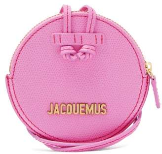 Jacquemus Le Pitchou Grained Leather Necklace Bag - Womens - Pink