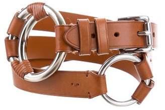 Ralph Lauren Double Ring Leather Belt