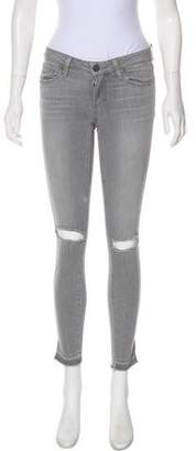 Paige Denim Distressed Skinny Jeans