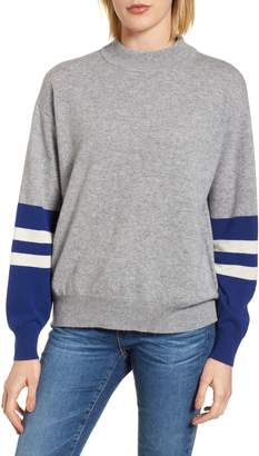Velvet by Graham & Spencer Colorblock Cashmere Sweater