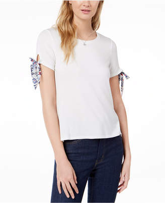 Maison Jules Tie-Sleeve T-Shirt, Created for Macy's