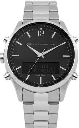 French Connection Men's Quartz Metal and Stainless Steel Casual Watch, Color Silver-Toned (Model: FC1311BSM)