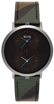 Rebecca Minkoff Griffith Grey Ion Plated Tone Camo Strap Watch, 43Mm