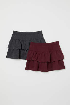 H&M 2-pack Ruffled Skirts - Red