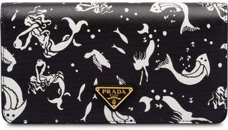 Prada Saffiano leather mermaid print mini-bag