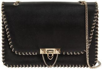 Valentino Medium Demilune Chain Trim Leather Bag