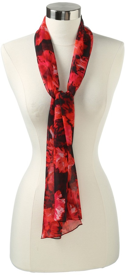 Calvin Klein - Painted Floral Silk (Red) - Accessories