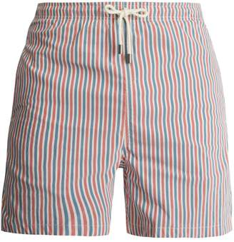 Solid & Striped Classic stripe-print swim shorts