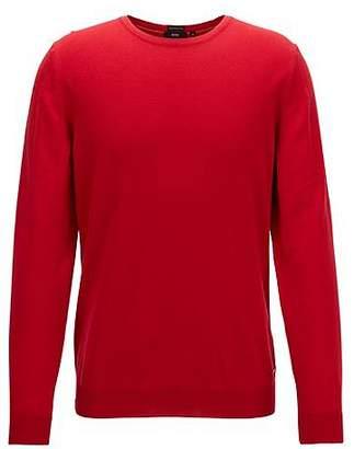 HUGO BOSS Crew-neck sweater in fine Italian cotton