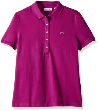 Lacoste Women's Classic Short Sleeve Slim Fit Stretch Pique Polo, PF785