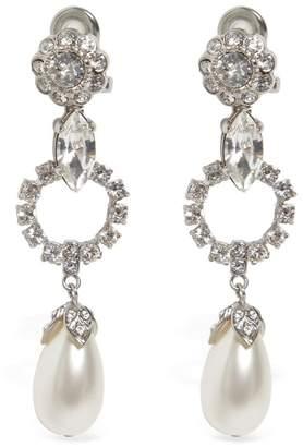 Miu Miu Crystal Clip-On Drop Earrings