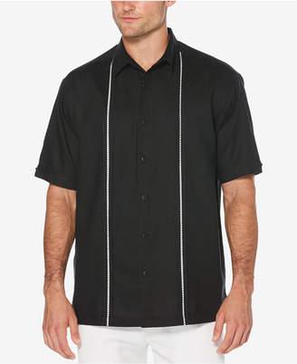 Cubavera Men's Big & Tall Linen Blend Pickstitch Panel Shirt