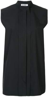 Jil Sander sleeveless band collar shirt