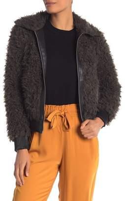 Vero Moda Faux Fur Ribbed Trim Jacket