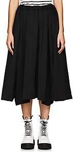 Comme des Garcons Women's Wool Drawstring Skirt-Black