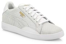 PUMA Match Select Premium Snakeskin-Embossed Suede Sneakers $85 thestylecure.com