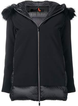 Rrd racoon fur trim hooded jacket