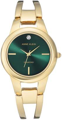 Anne Klein Goldtone Diamond Bracelet Watch