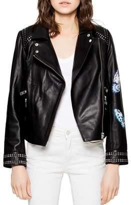 Zadig & Voltaire Kawai Embellished Leather Jacket