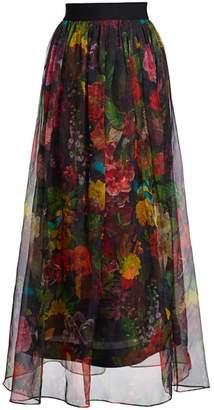 Alice + Olivia Yvonne Floral Maxi Skirt