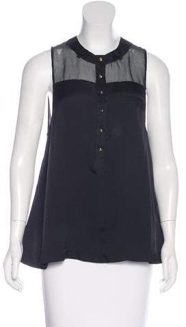 Alexander Wang Alexander Wang Sleeveless Silk Top