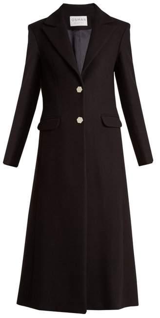 Delauney single-breasted wool-blend coat