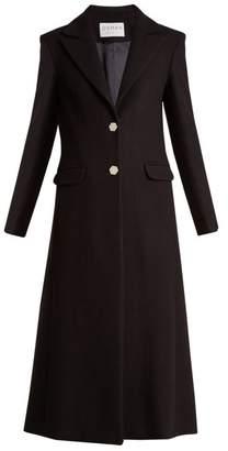Osman Delauney single-breasted wool-blend coat