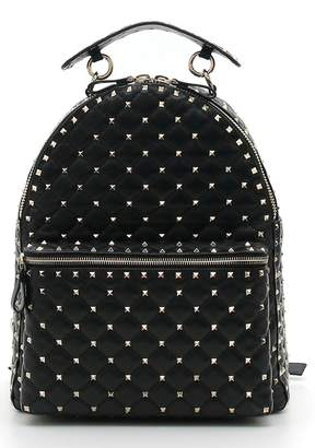 Valentino Rockstud Spike Quilted Leather Backpack