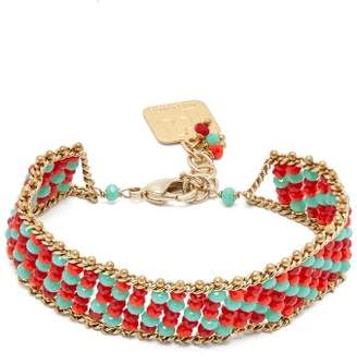 Rosantica By Michela Panero - Striped Beaded Bracelet - Womens - Red