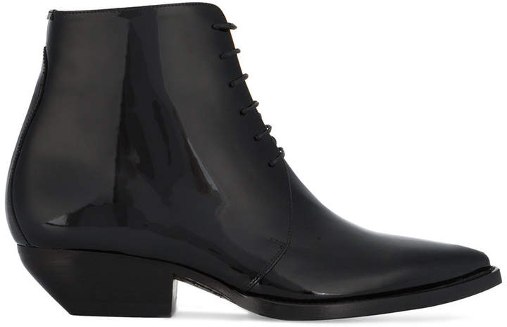 Saint Laurent Theo lace-up ankle boots