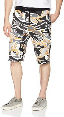 True Religion Men's Camo Sweat Short