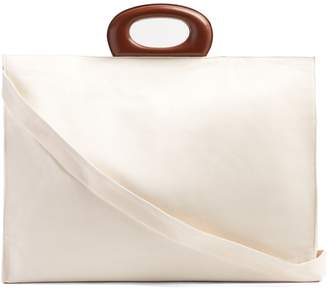 Lemaire Canvas and leather-trim tote